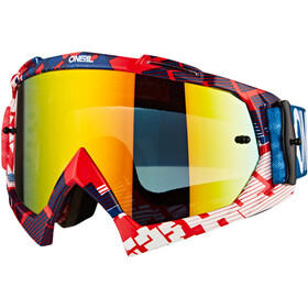 O'Neal B-10 Goggles, pixel red/blue-radium